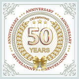 Golden anniversary  50 years Royalty Free Stock Image