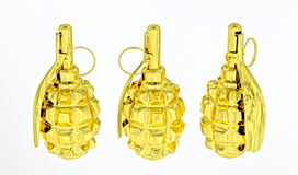 Golden anti-personnel grenades Stock Image