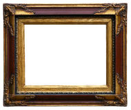 Golden Antique Carved  Picture Frame Royalty Free Stock Photos
