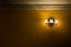 Golden antique chandeller with empty space Royalty Free Stock Image