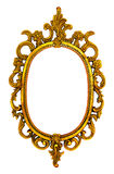 Golden antique frame. Golden antique frame isolated on white background Stock Images