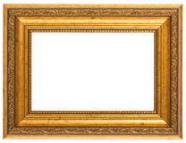 Golden antique frame Royalty Free Stock Photos