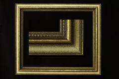 Golden antique frame - detailed edge included Royalty Free Stock Images