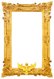 Golden antique frame isolated. On white background Stock Images