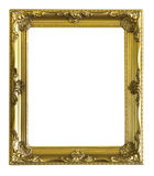 Golden antique frame isolated. On white background Royalty Free Stock Images