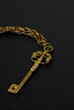 Golden Antique Key Royalty Free Stock Images