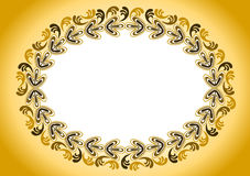 Golden Antique Old Frame. Ornate antique golden frame stamp style Royalty Free Stock Photography