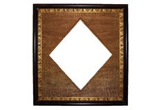 Golden antique picture frame Stock Photography