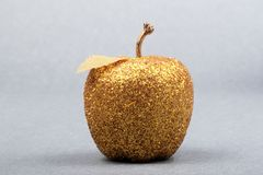 A golden apple Royalty Free Stock Photos