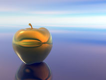 Golden apple. Royalty Free Stock Image