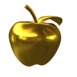 Golden apple isolated on a white background Royalty Free Stock Photo