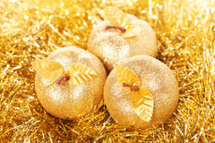 Golden apples Royalty Free Stock Image