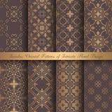 Golden Arabesque Patterns Royalty Free Stock Image