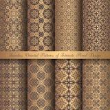 Golden Arabesque Patterns Royalty Free Stock Photos