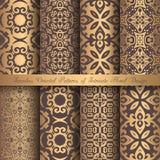 Golden Arabesque Patterns Royalty Free Stock Photo