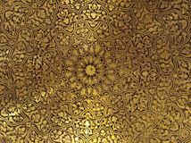 Golden Arabian Oriental Artistic Ornamental carvings royalty free stock photos