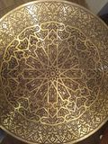 Golden Arabian Oriental Artistic Ornamental carvings royalty free stock image