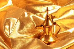 Golden arabic coffee / tea pot Stock Photography
