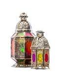 Golden arabic lantern. Oriental decoration Stock Photos