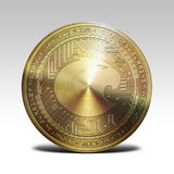 Golden aragon coin isolated on white background 3d rendering Stock Image