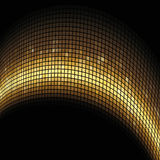 Golden arc formed mosaic. Background Stock Image