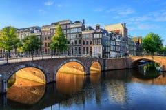 Golden arch canal Stock Photos