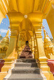 Golden arched walkway Stock Images