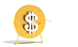 Golden Archery Target Dollar Stock Images
