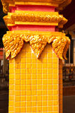 Golden architecture detail building. Religion symbol decoration Royalty Free Stock Photo