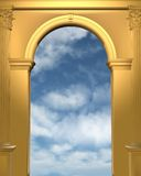 Golden archway with blue sky Royalty Free Stock Photo
