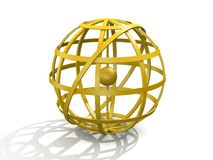 Golden armillary sphere Royalty Free Stock Photo