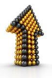 Golden Arrow Stock Image