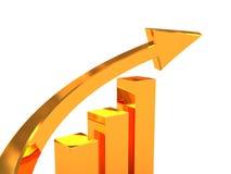 Golden arrow Royalty Free Stock Photos