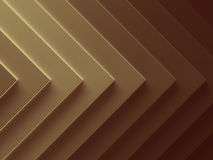 Golden arrow abstract background. Can. Be used for web design, wallpaper, modern design, banner and mobile application. 3D illustration Royalty Free Stock Photos