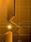 Golden arrow background Stock Images