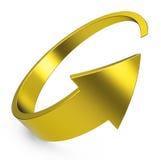The golden arrow Stock Photography