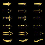 Golden Arrow set Stock Photo