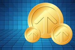 Golden Arrows Stock Photo