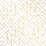 Golden Art Deco Seamless Pattern Background With Shiny Lines Royalty Free Stock Images