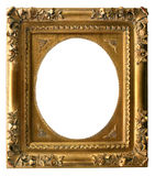 Golden Art Frame. Gilded gold frame ready for your insertion Stock Images
