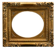 Golden Art Frame. Gilded gold frame ready for your insertion Stock Photography