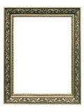 Golden Art Nouveau Frame. Isolated on white background stock image