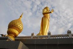 Golden art in thai temple Stock Photography