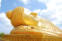 Golden art in thai temple Royalty Free Stock Images