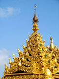 Golden artistic dome. Its photo of golden artistic dome. Place - Global pagoda, Mumbai, India stock image