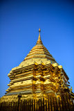 Golden Asian temple Stock Photography