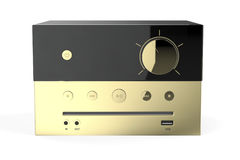 Golden audio system Royalty Free Stock Photos