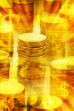 Golden Australian Money Background royalty free stock image