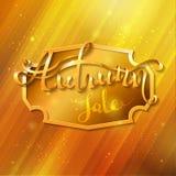 Golden autumn background. Stock Photos