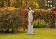 Golden autumn in Catherine park, Tsarskoye Selo Royalty Free Stock Photo